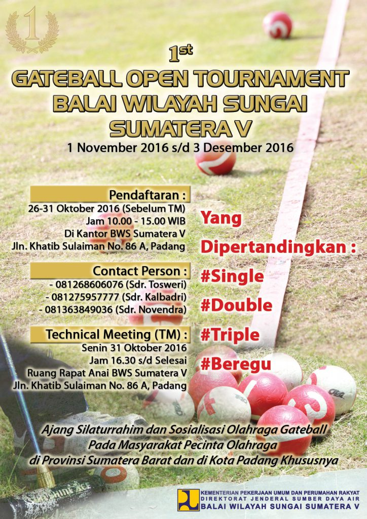 1st Gateball Open Tournament BWS Sumatera V
